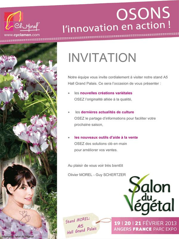 Actualit s invitation au salon du v g tal 2013 - Salon professionnel en france ...
